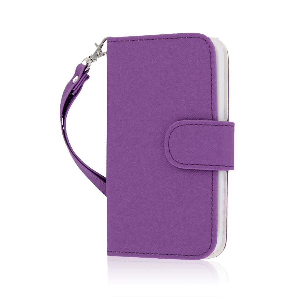 LG G2 Mini - Purple MPERO FLEX FLIP Wallet Case Cover