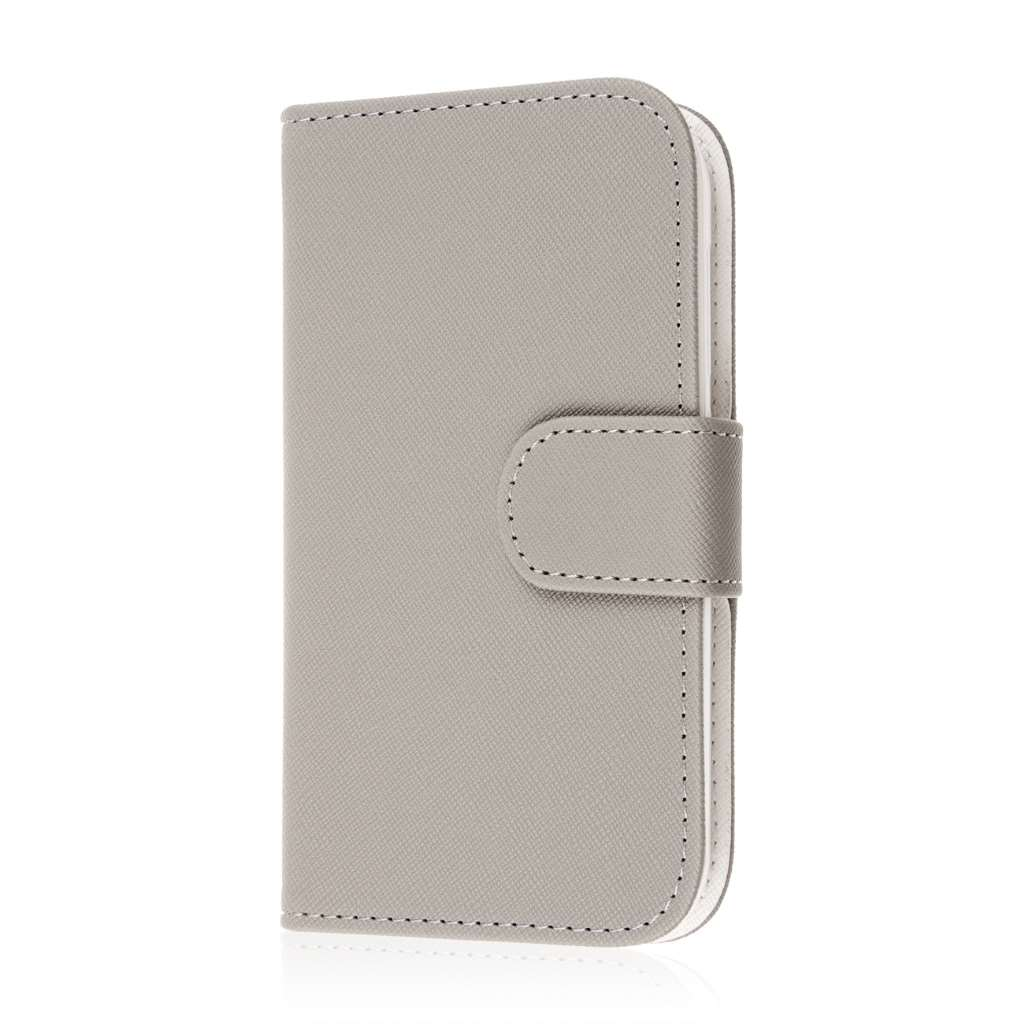 Alcatel OneTouch Fierce 2 - Gray MPERO FLEX FLIP Wallet Case Cover
