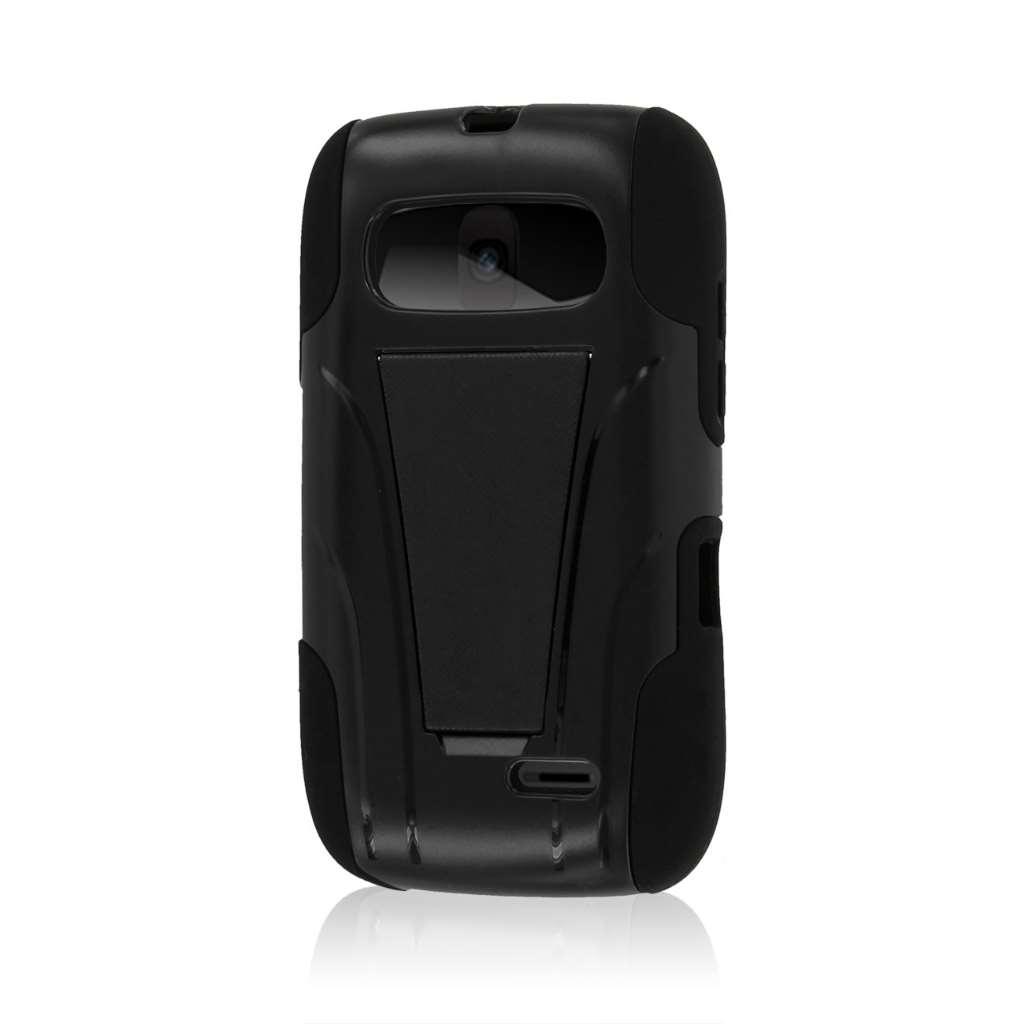 ZTE Z432 - Black MPERO IMPACT X - Kickstand Case Cover