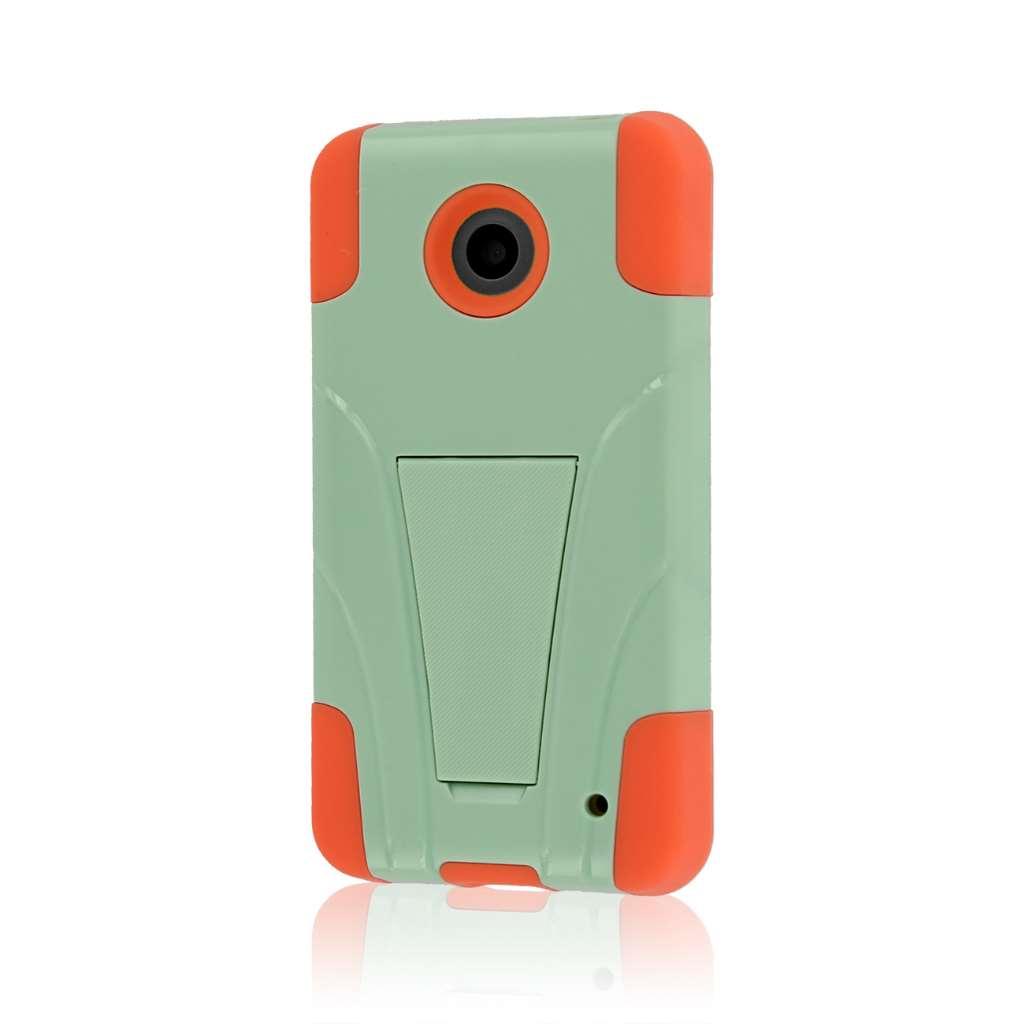 Nokia Lumia 635 - Coral / Mint MPERO IMPACT X - Kickstand Case Cover
