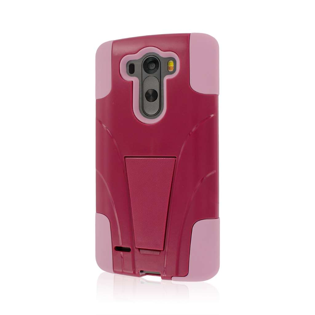LG G3 - Hot Pink / Pink MPERO IMPACT X - Kickstand Case Cover