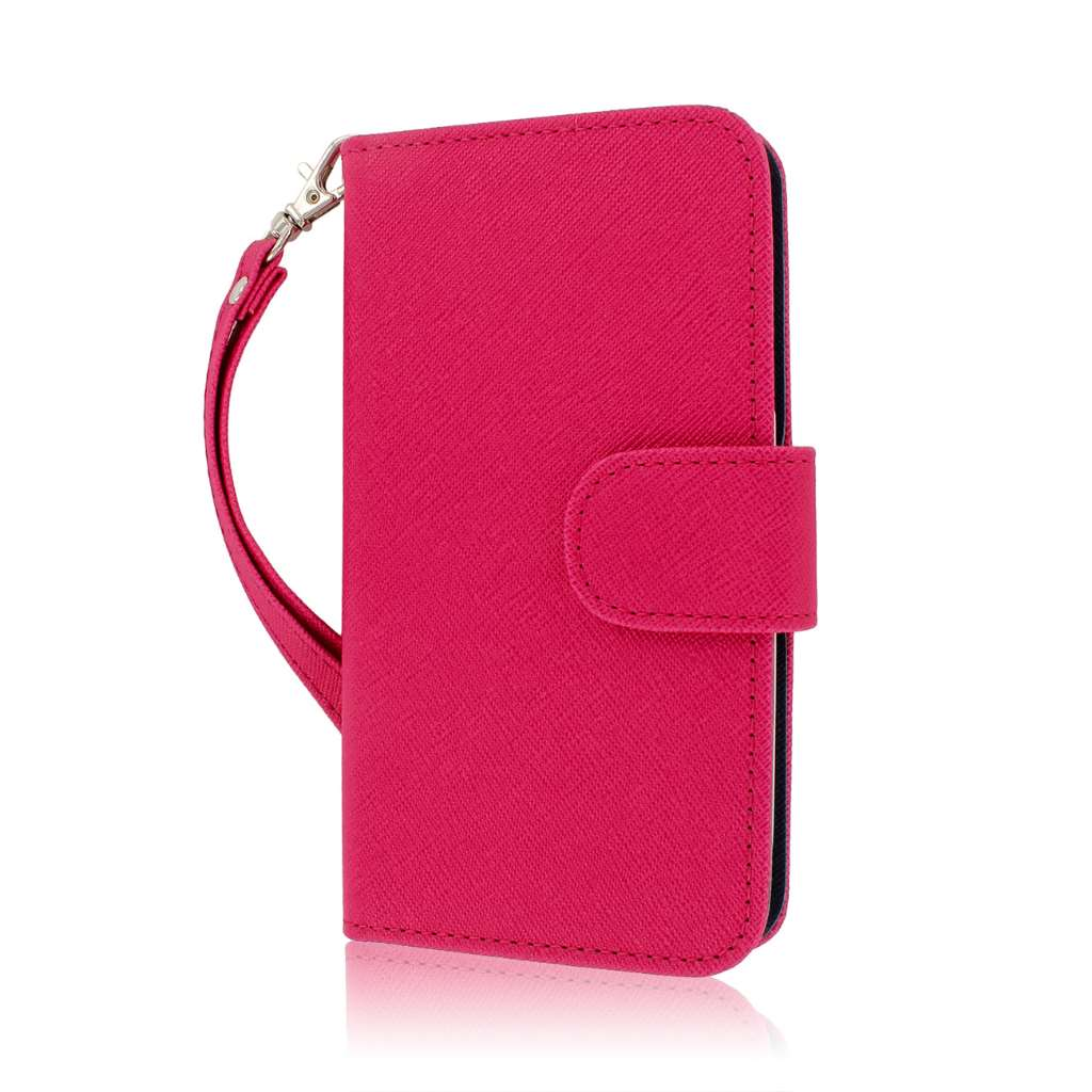 Samsung Galaxy S3 - Pink / Navy Blue MPERO FLEX FLIP Wallet Case