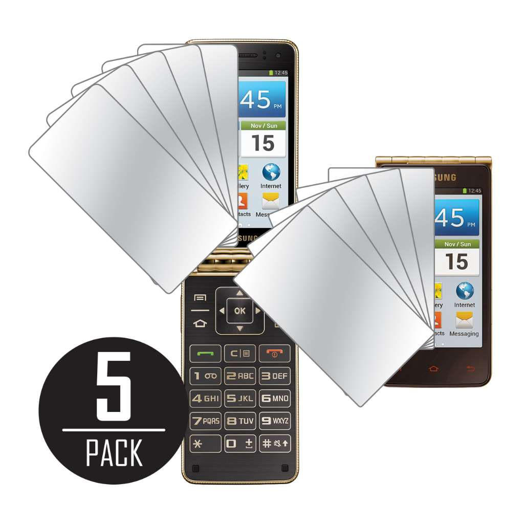 Samsung Galaxy Golden MPERO 5 Pack of Mirror Screen Protectors