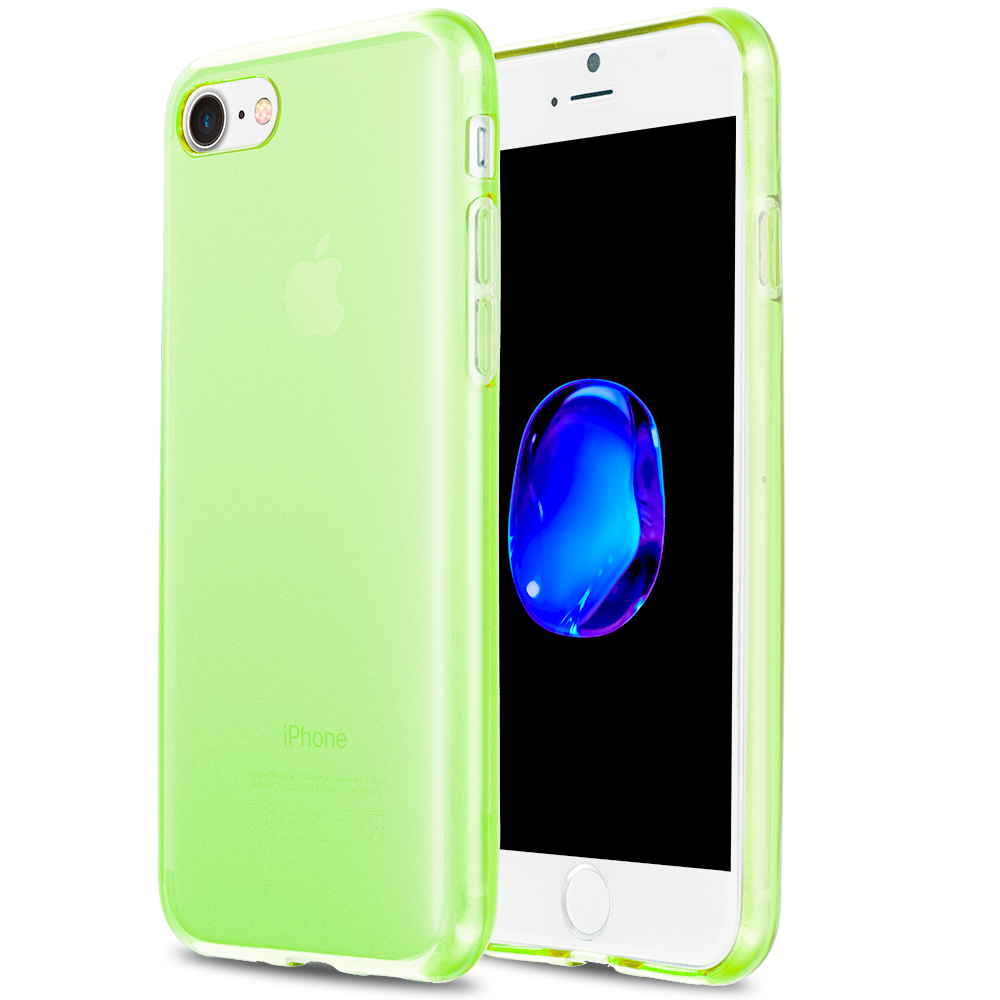 Apple iPhone 7 Plus Neon Green TPU Rubber Skin Case Cover