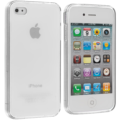 Apple iPhone 4 / 4S Clear Plain TPU Rubber Skin Case Cover