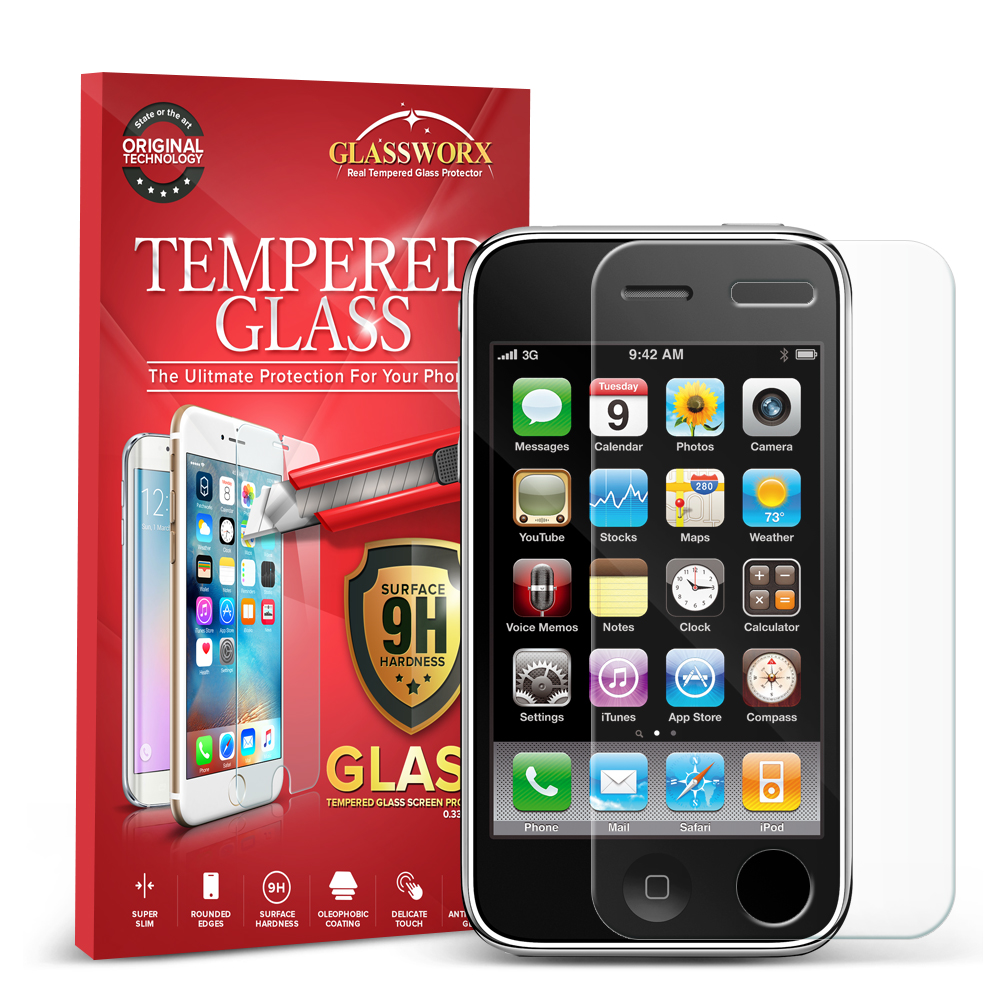 Apple iPhone 3G / 3GS GlassWorX HD Clear Tempered Glass Screen Protector
