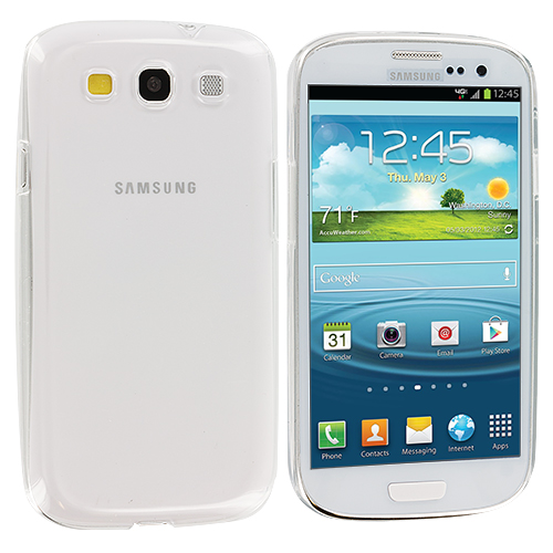 Samsung Galaxy S3 Clear Crystal Hard Back Cover Case