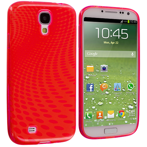Samsung Galaxy S4 Red Peacock TPU Rubber Skin Case Cover
