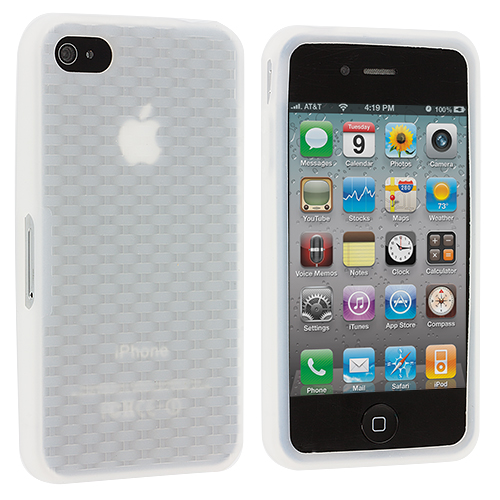 Apple iPhone 4 / 4S Clear Silicone Soft Skin Case Cover
