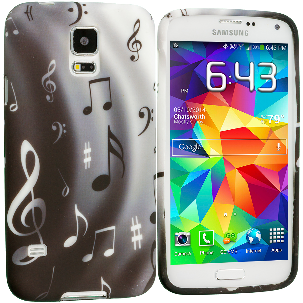 Samsung Galaxy S5 Musical Notes TPU Design Soft Case Cover