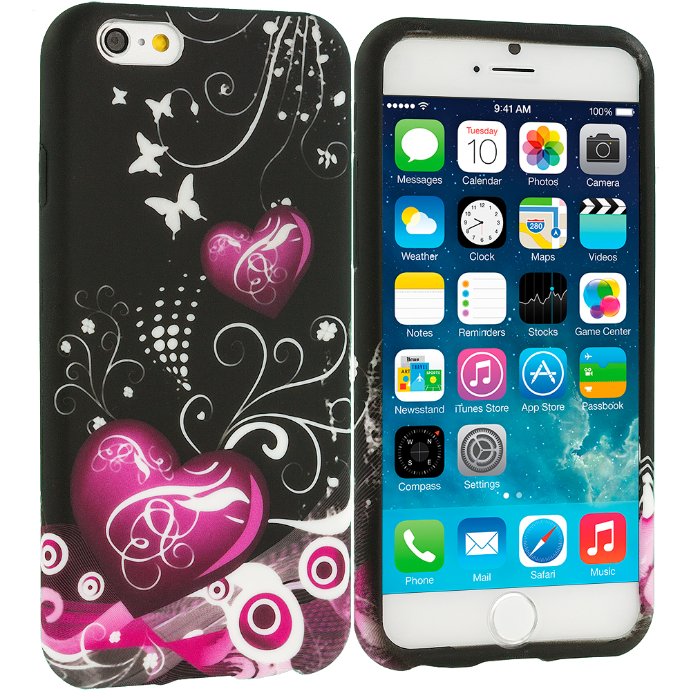 Apple iPhone 6 Plus 6S Plus (5.5) Heart Melody TPU Design Soft Rubber Case Cover