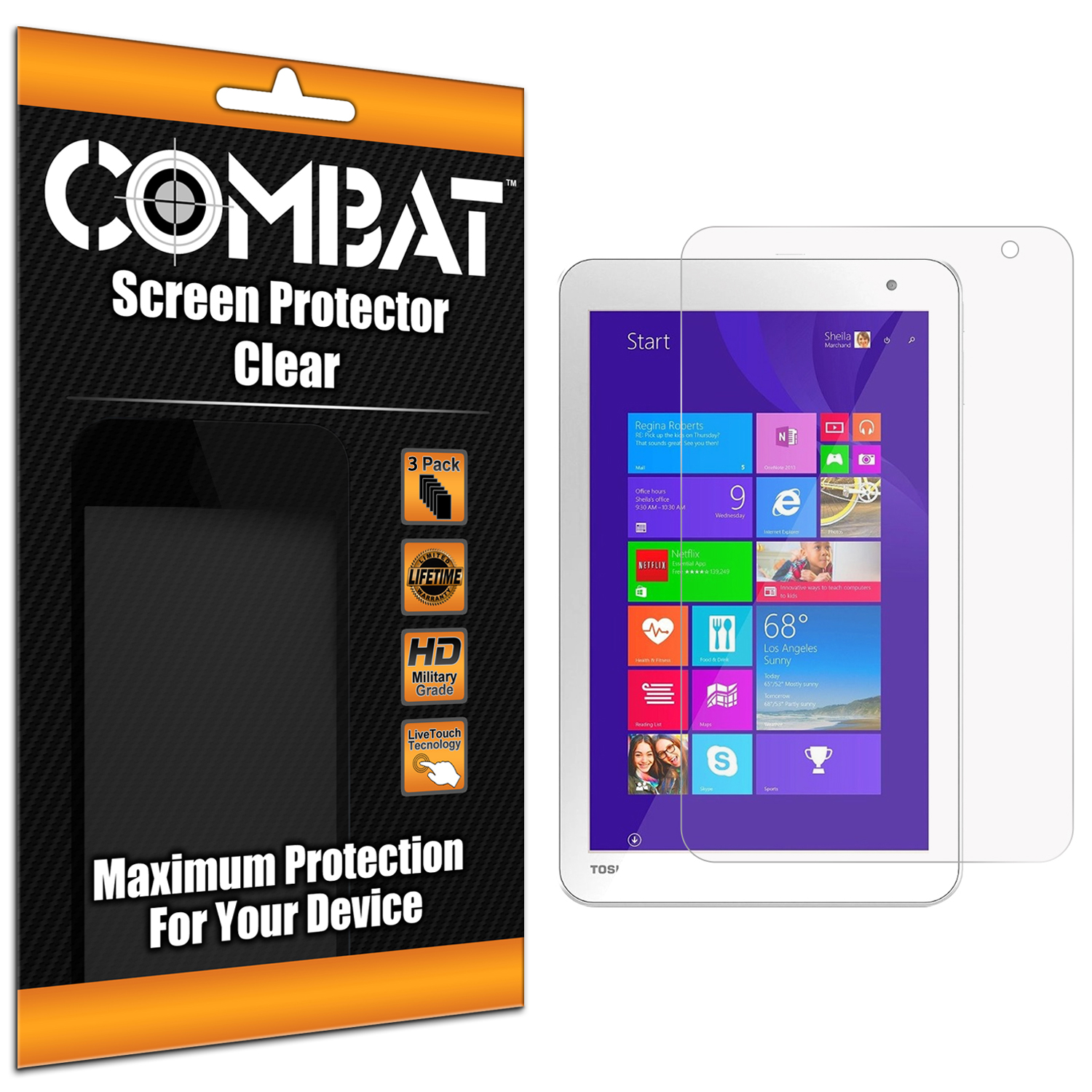 Toshiba Encore 2 8.0 Clear Combat 6 Pack HD Clear Screen Protector