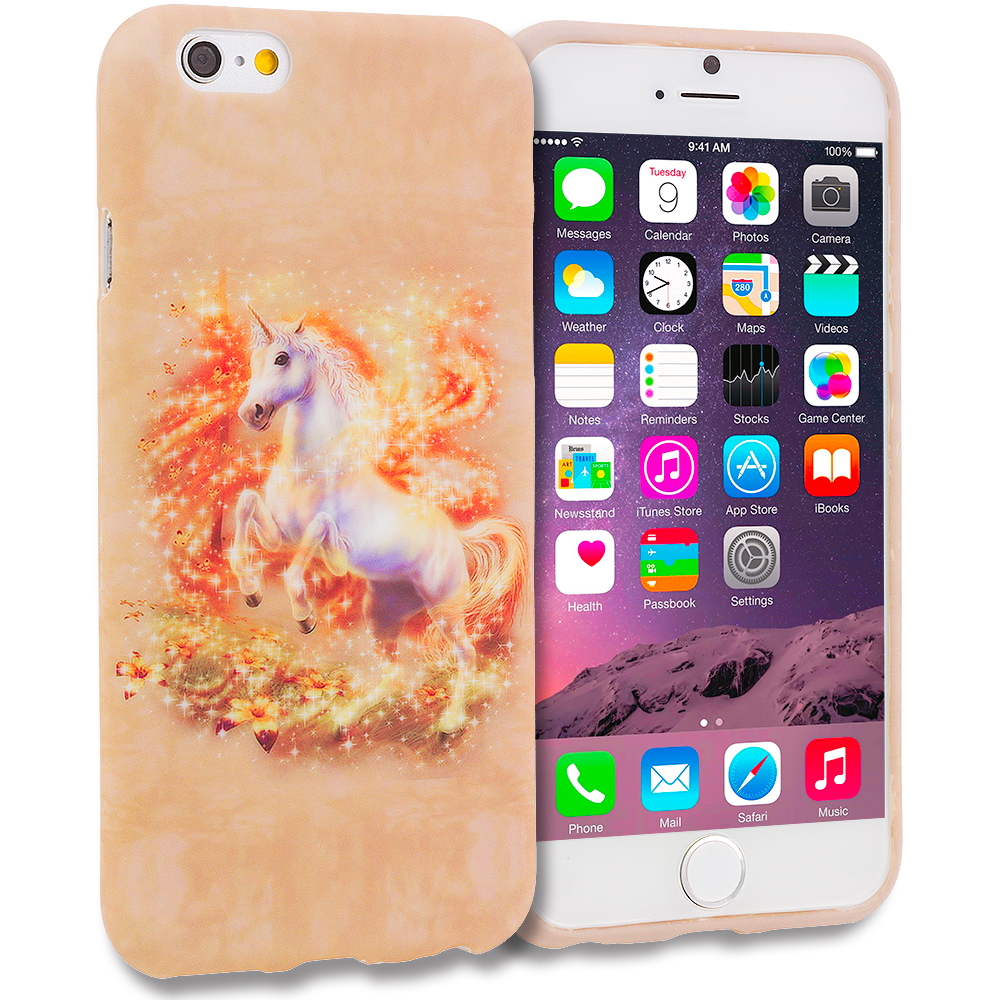 Apple iPhone 6 6S (4.7) 11 in 1 Combo Bundle Pack - TPU Design Soft Rubber Case Cover : Color Unicorn
