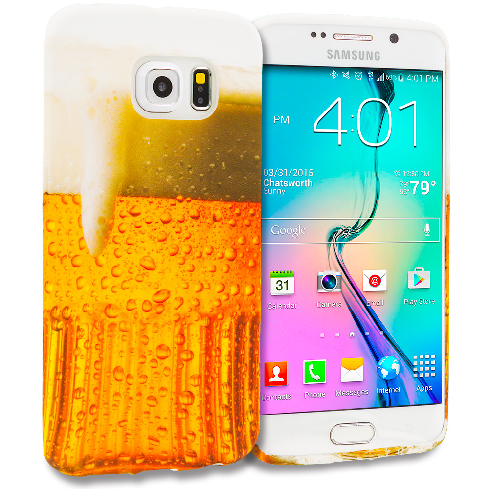 Samsung Galaxy S6 Edge Beer TPU Design Soft Rubber Case Cover