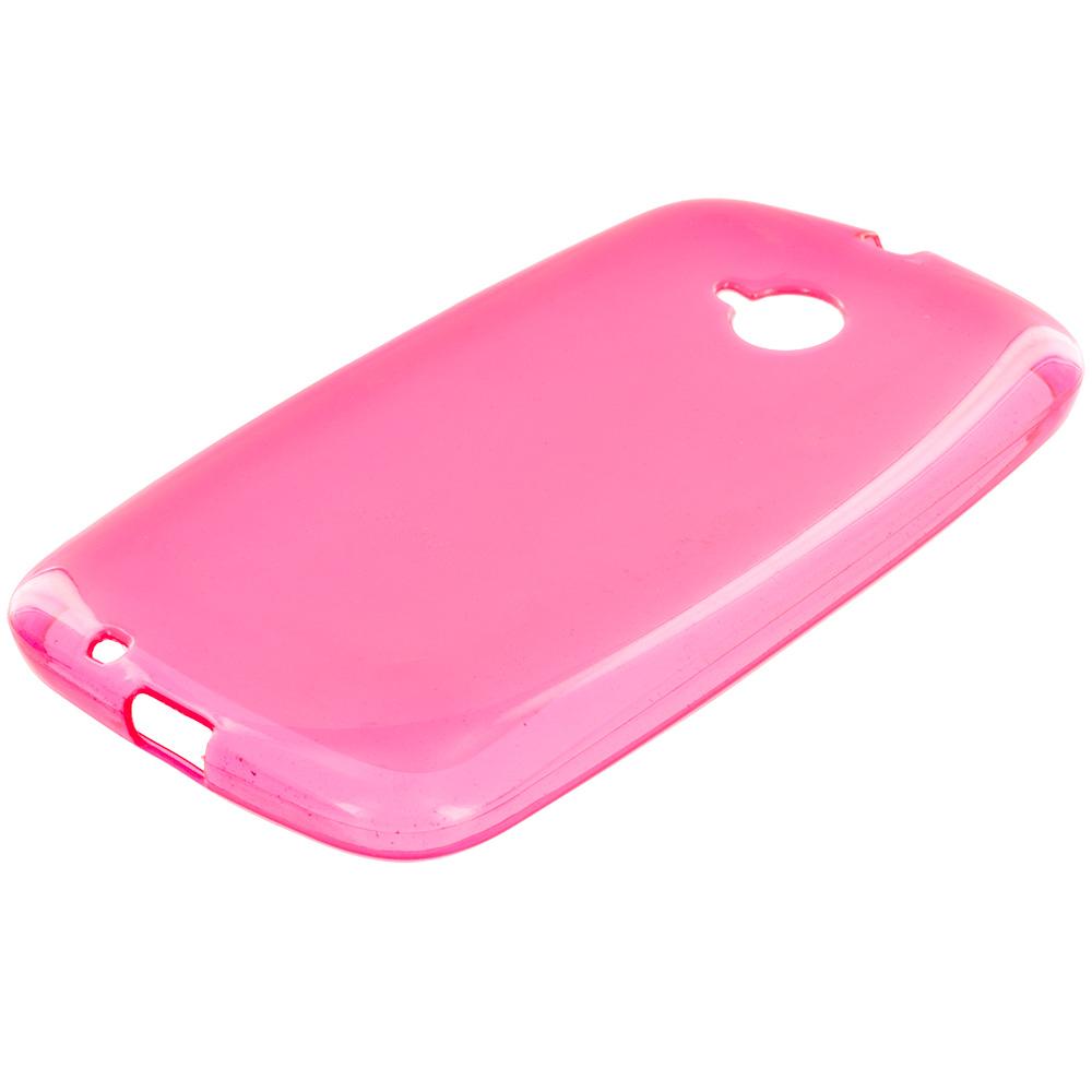 Motorola Moto E LTE 2nd Generation Hot Pink TPU Rubber Skin Case Cover