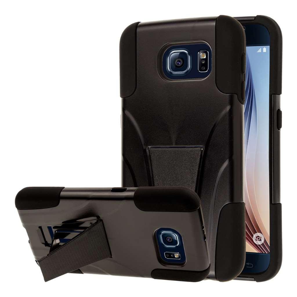 Samsung Galaxy S6 - Black MPERO IMPACT X - Kickstand Case Cover