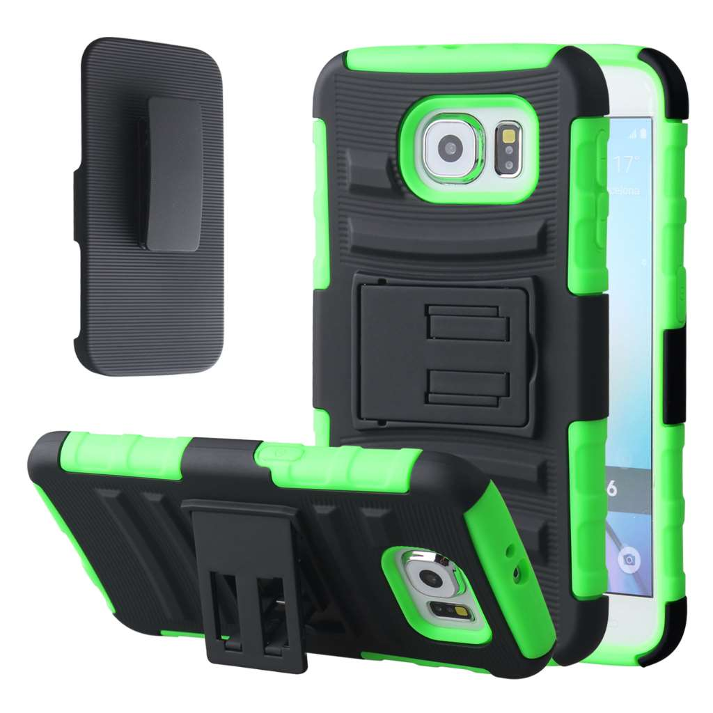 Samsung Galaxy S6 - Neon Green MPERO IMPACT XT - Kickstand Case Cover