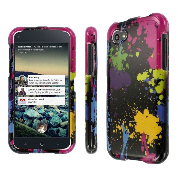 HTC First - Black Paint Splatter MPERO SNAPZ - Glossy Case Cover
