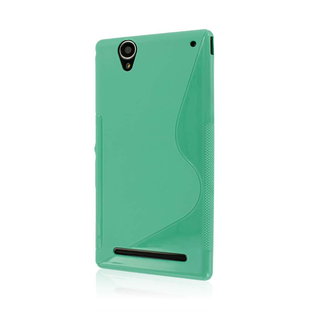 Sony Xperia T2 Ultra - Mint Green MPERO FLEX S - Protective Case Cover