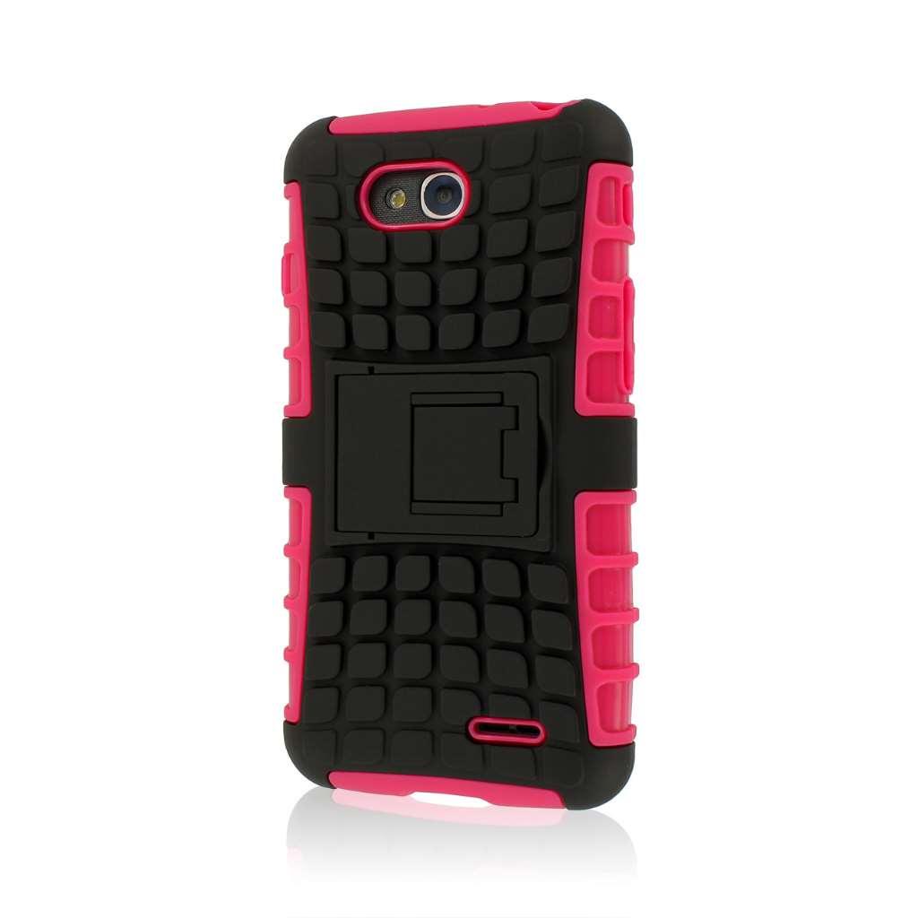 LG Optimus L90 - Hot Pink MPERO IMPACT SR - Kickstand Case Cover