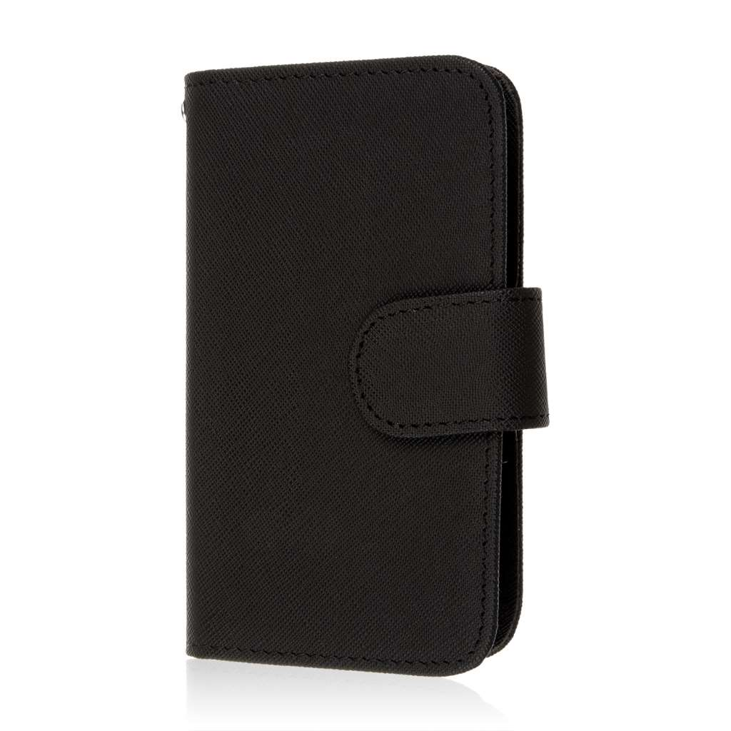 Alcatel OneTouch Evolve 2 - Black MPERO FLEX FLIP Wallet Case Cover