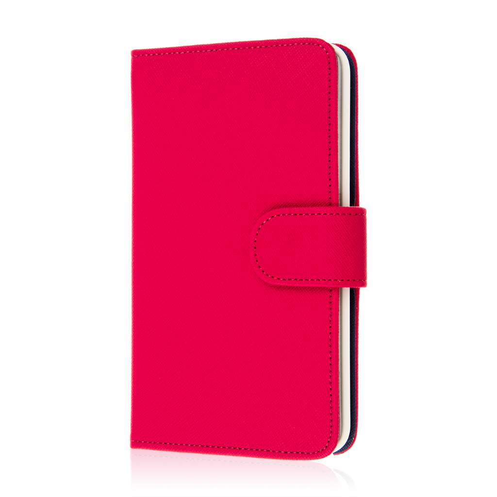 Samsung Galaxy Note Edge - Hot Pink MPERO FLEX FLIP Wallet Case Cover