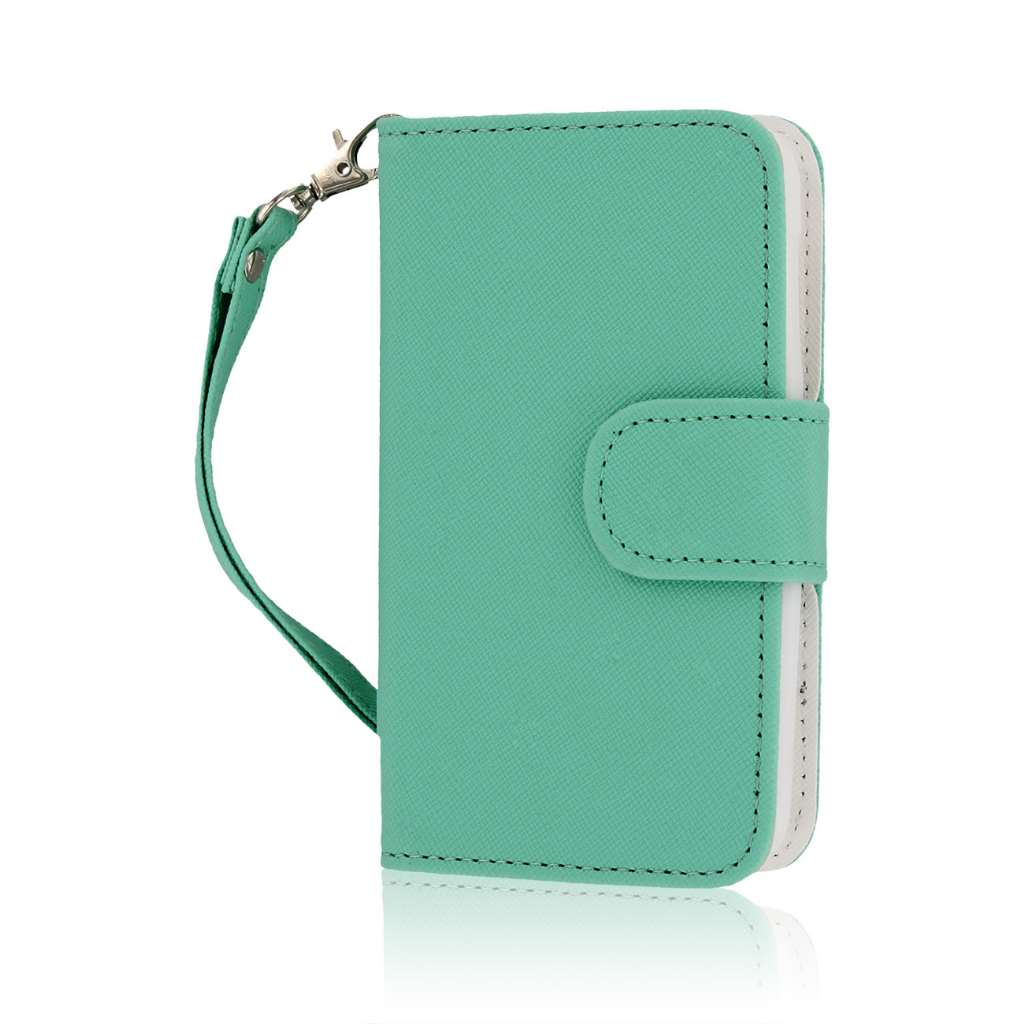Nokia Lumia 530 - Mint MPERO FLEX FLIP Wallet Case Cover