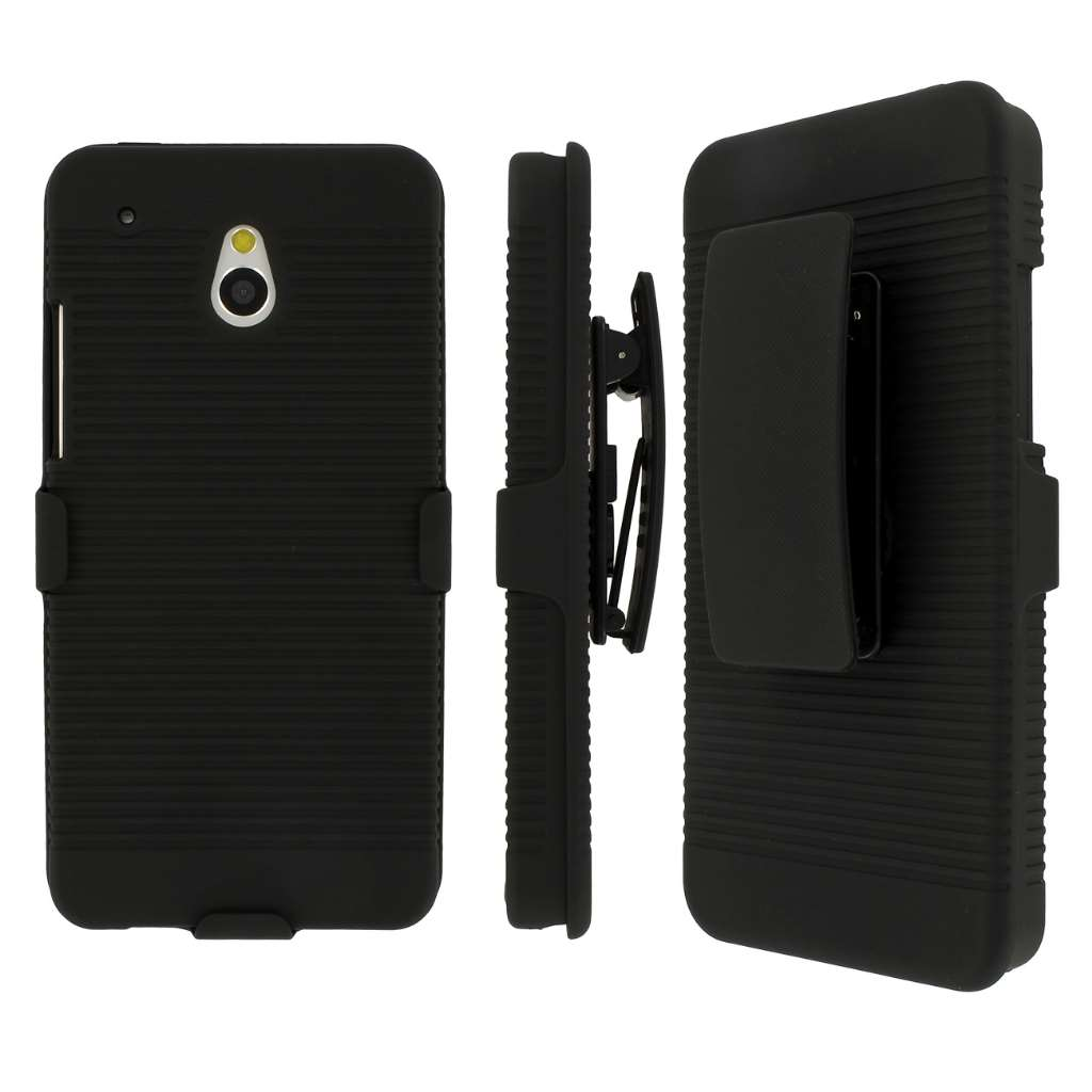 HTC One Mini MPERO 3 in 1 Tough Kickstand Case Cover