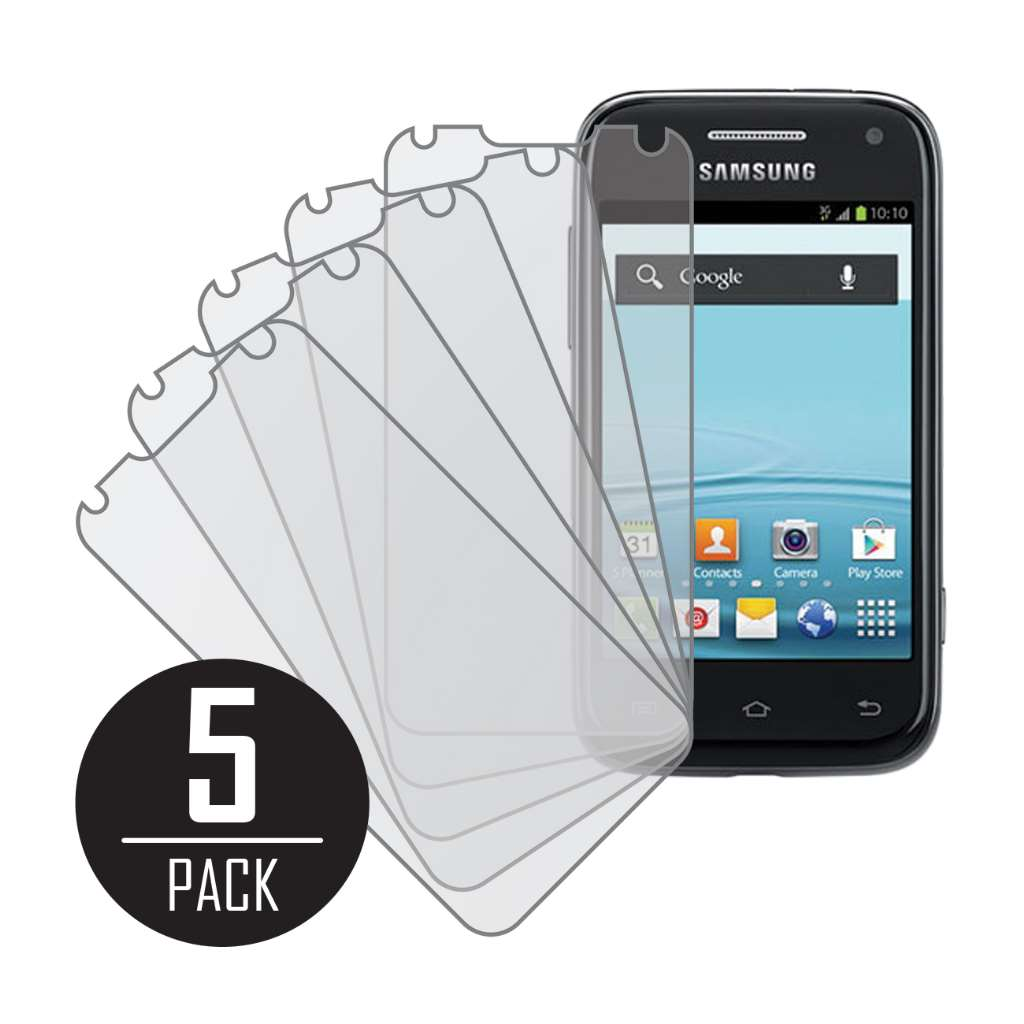Samsung Galaxy Rush MPERO 5 Pack of Matte Anti-Glare Screen Protectors