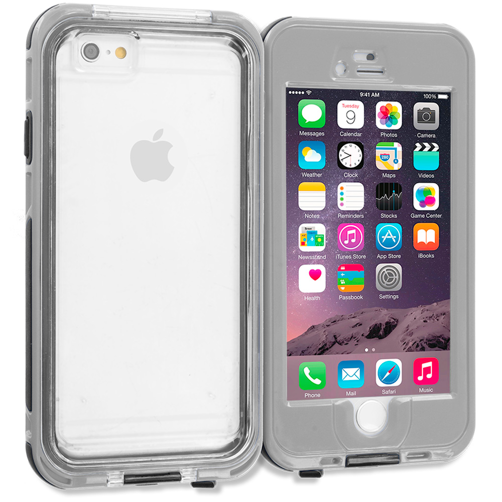 Apple iPhone 6 Plus 6S Plus (5.5) Gray Waterproof Shockproof Dirtproof Hard Full Protection Case Cover