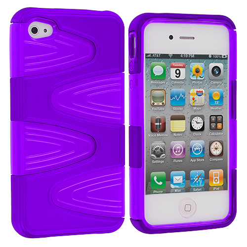 Apple iPhone 4 / 4S Purple Hybrid Hard/TPU Case Cover