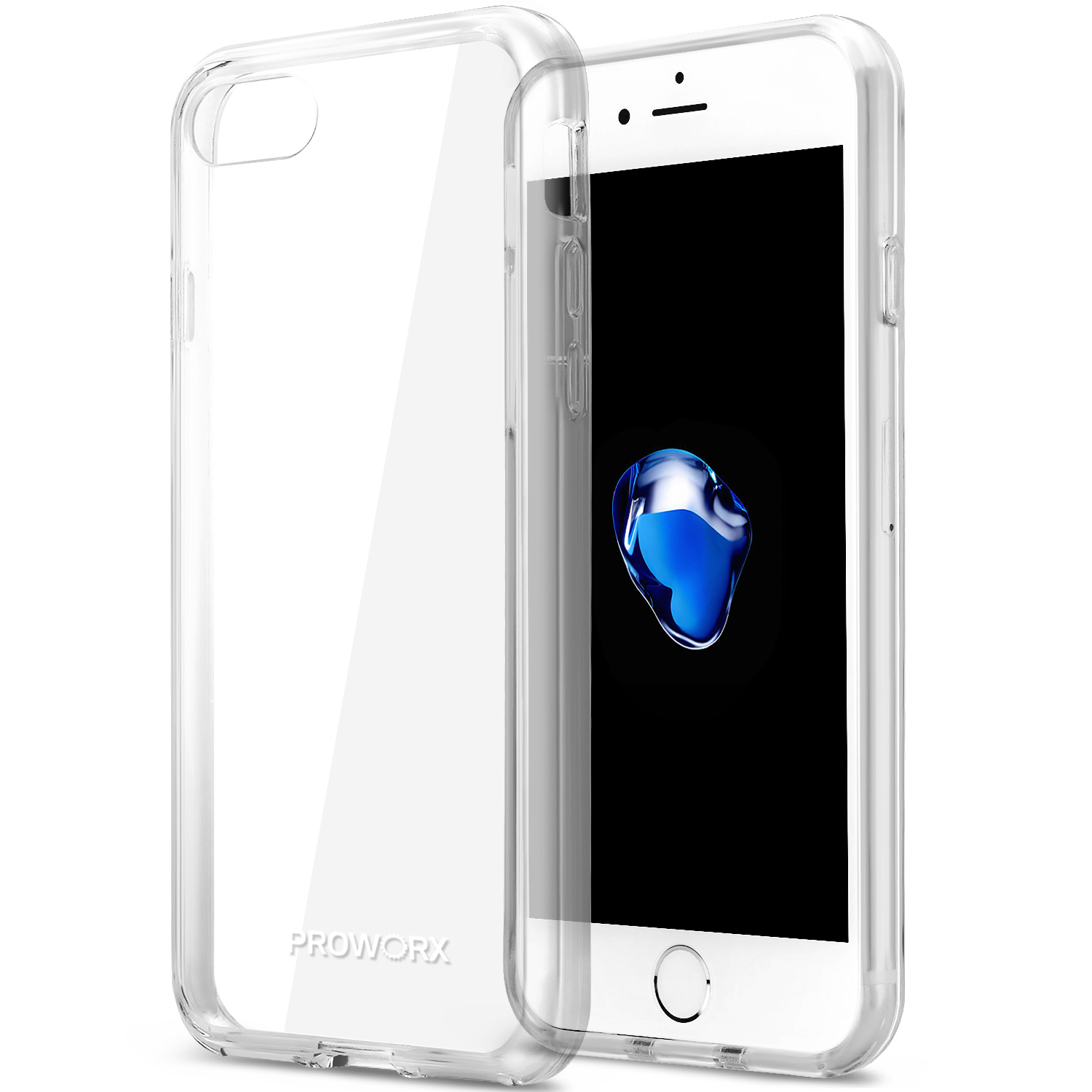 Apple iPhone 6 6S (4.7) Clear ProWorx Shock Absorption Case Bumper TPU & Anti-Scratch Clear Back Cover