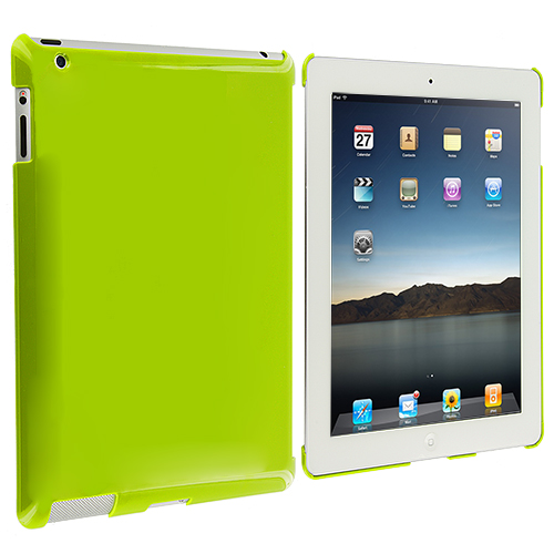 Apple iPad 4th 3rd 2nd Gen Neon Green Crystal Hard Back Cover Case