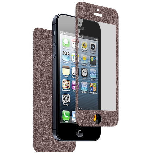 Apple iPhone 5 / 5S Combo Pack : Gray Glitter LCD Screen Protector : Color Gray Glitter