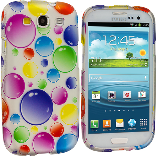 Samsung Galaxy S3 Bubbles Design Crystal Hard Case Cover