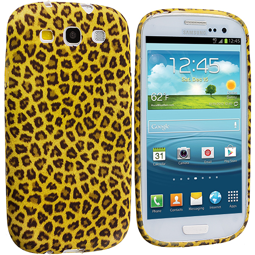 Samsung Galaxy S3 Yellow Leopard TPU Design Soft Case Cover