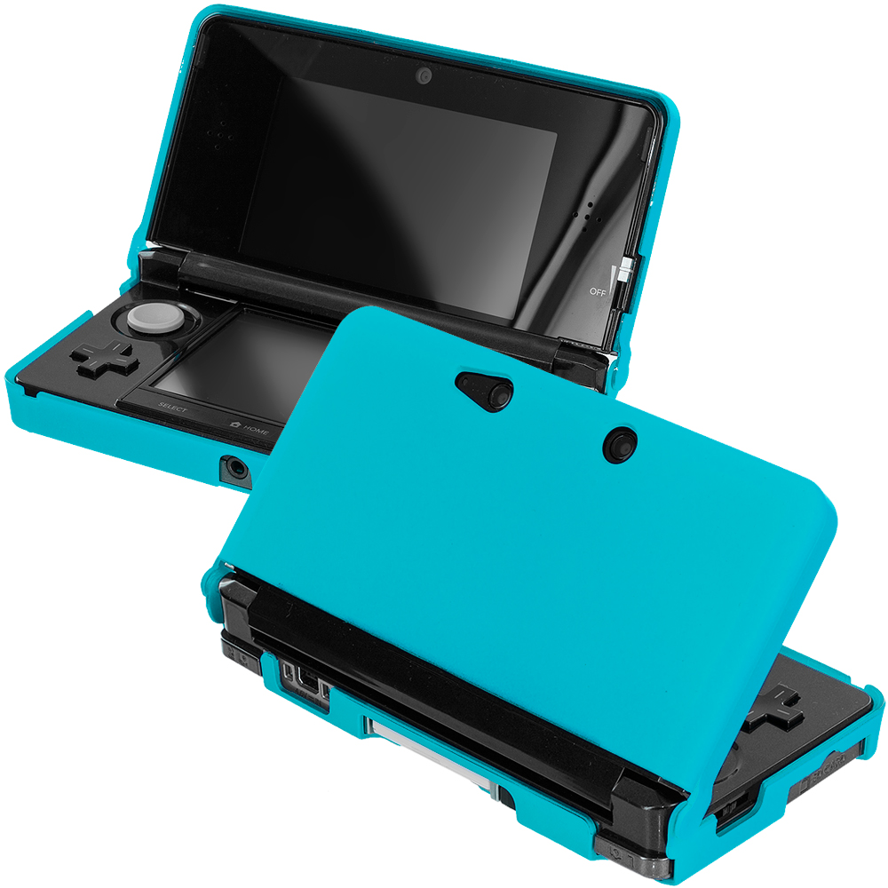 Nintendo 3DS Baby Blue Hard Rubberized Case Cover