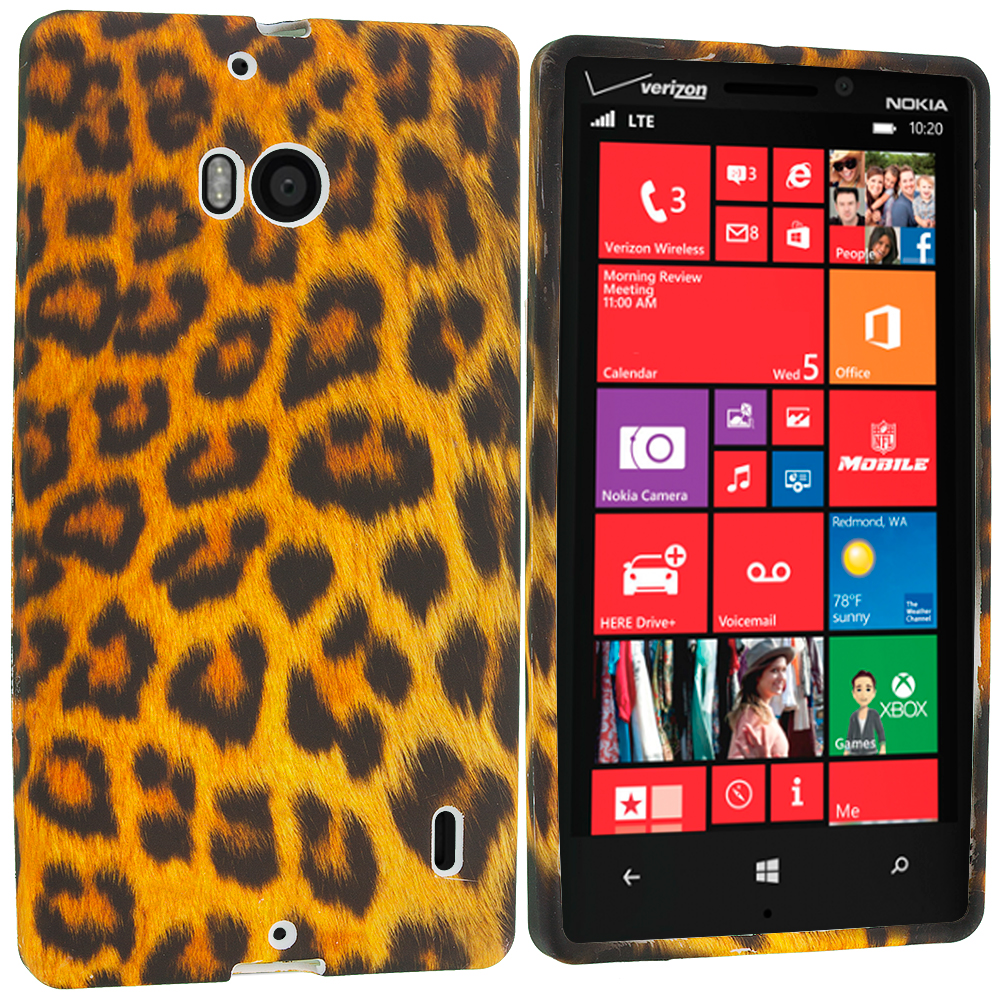 Nokia Lumia 929 Icon Leopard Print TPU Design Soft Case Cover