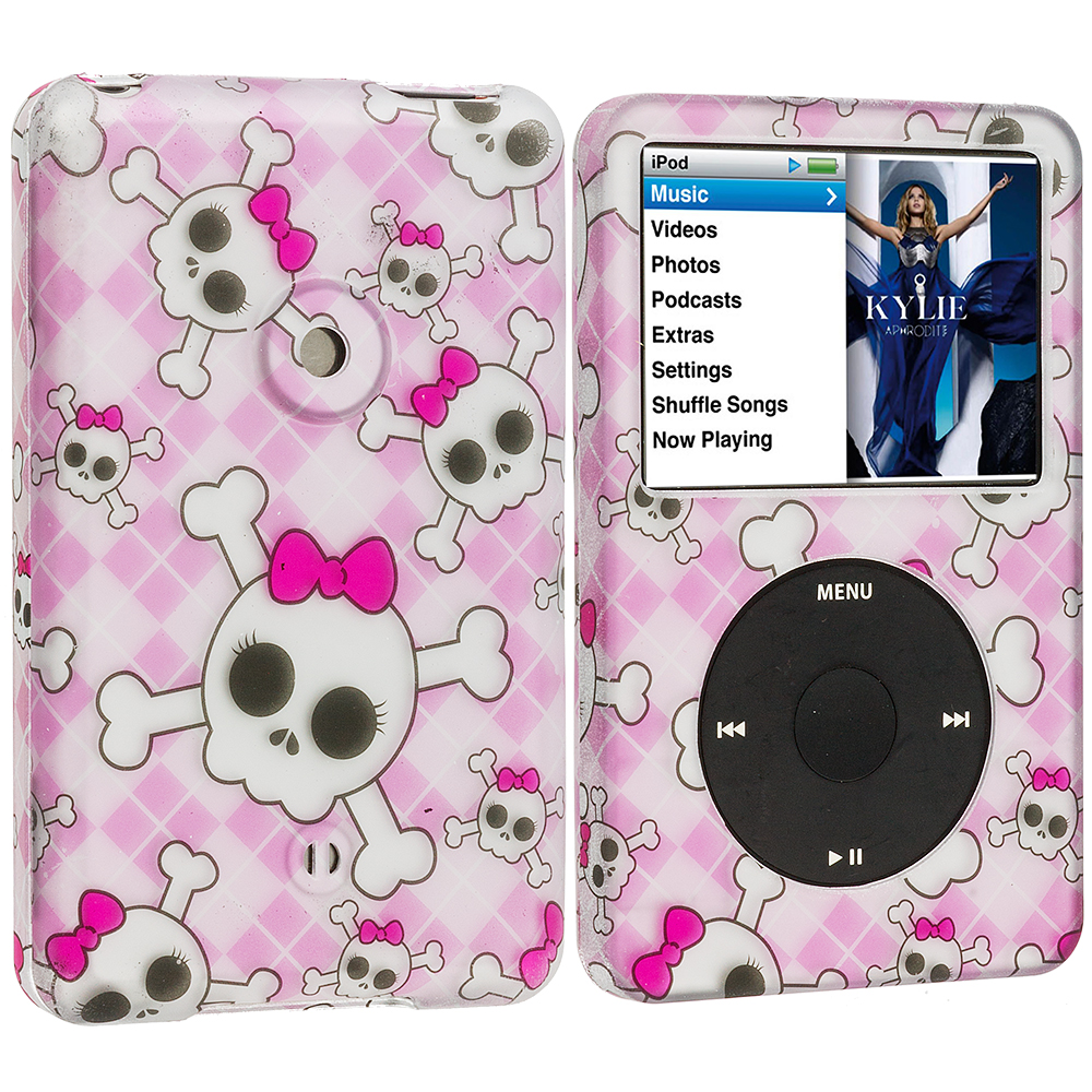 Apple iPod Classic Cute Skulls Hard Rubberized Design Case Cover