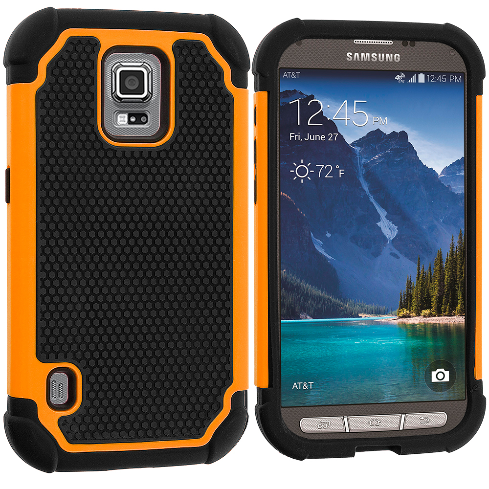 For Samsung Galaxy S5 Active Hybrid Rugged Shockproof ...