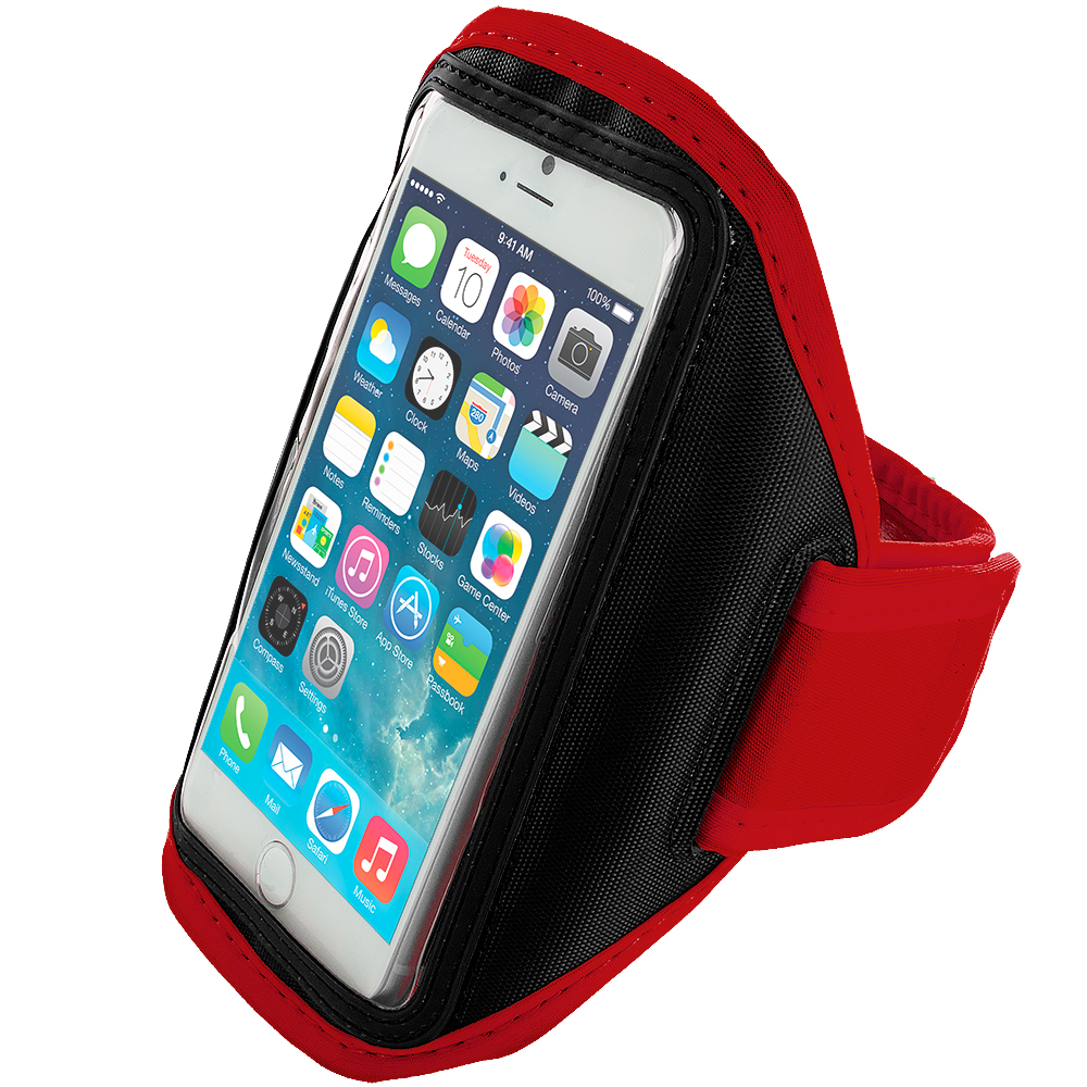Apple iPhone 6 6S (4.7) Red Running Sports Gym Armband