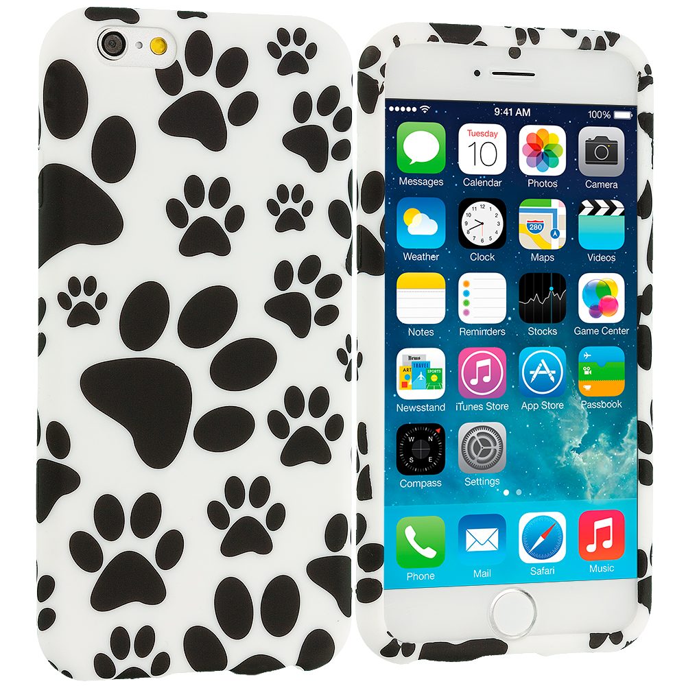 Apple iPhone 6 Plus 6S Plus (5.5) Dog Paw TPU Design Soft Rubber Case Cover