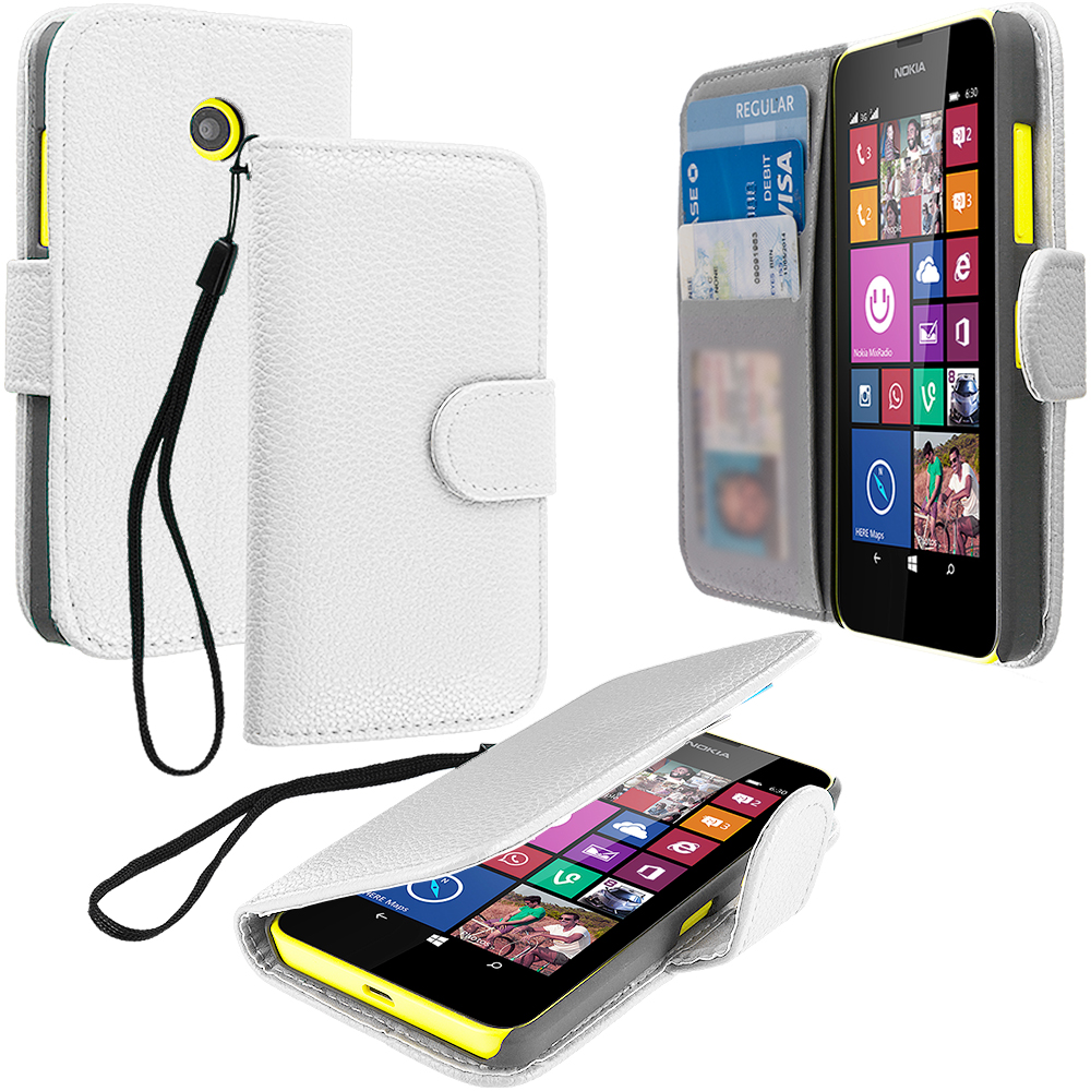 For Nokia Lumia 630 635 Wallet Flip Pouch Case Cover Card Holder Accessory