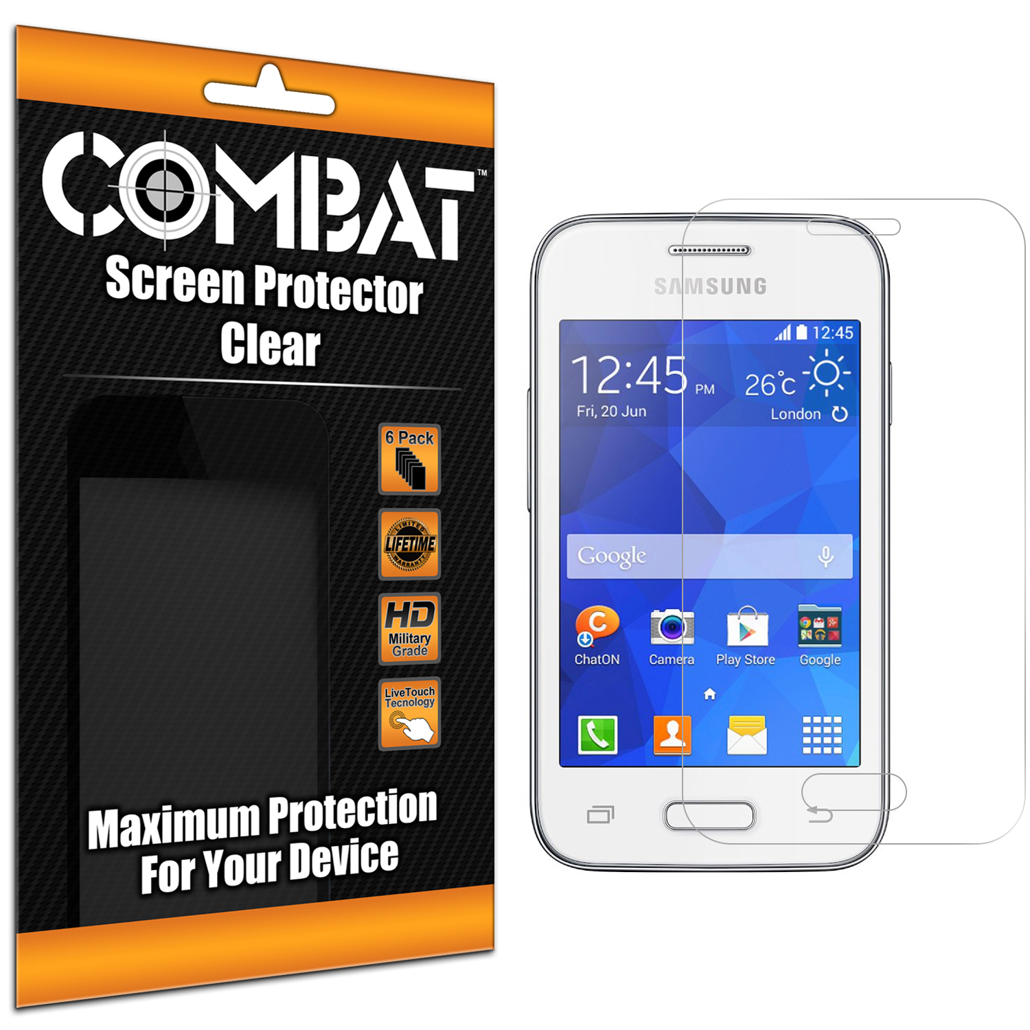 Samsung Galaxy Young 2 Combat 6 Pack HD Clear Screen Protector