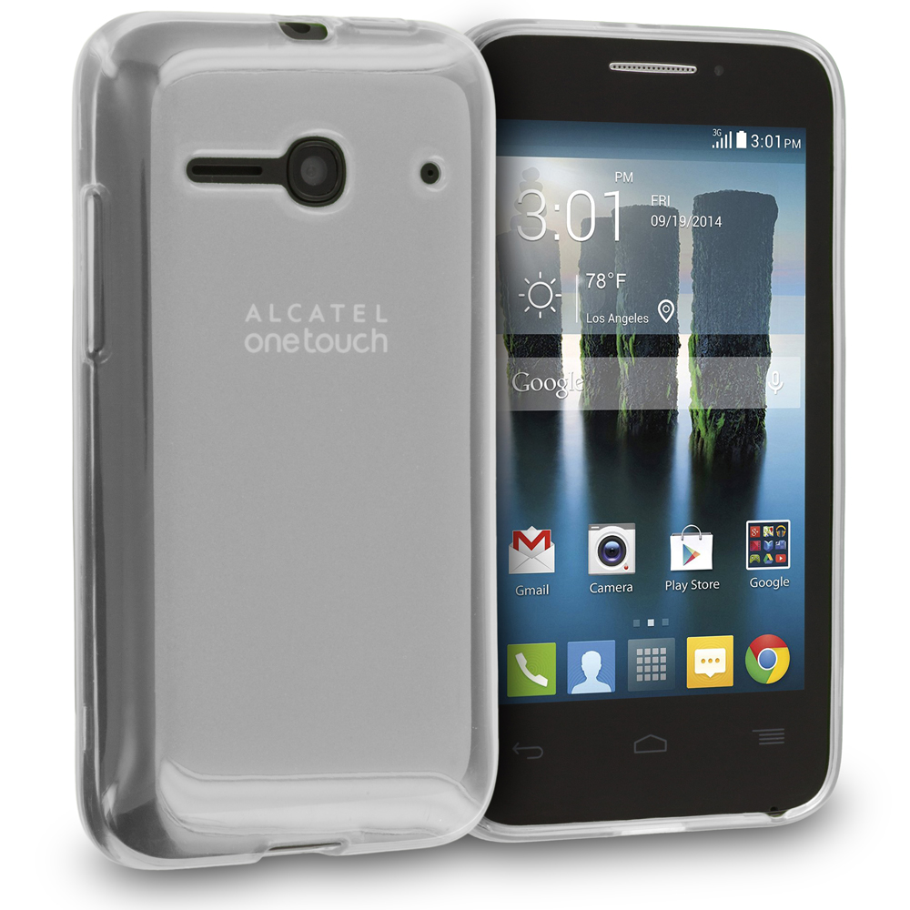 Alcatel One Touch Evolve 2 Clear TPU Rubber Skin Case Cover