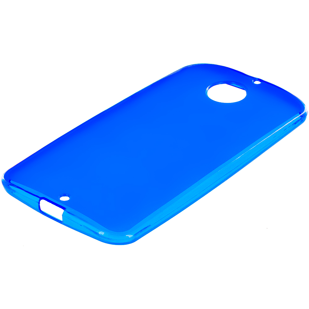 Motorola Moto X 2nd Gen Blue TPU Rubber Skin Case Cover
