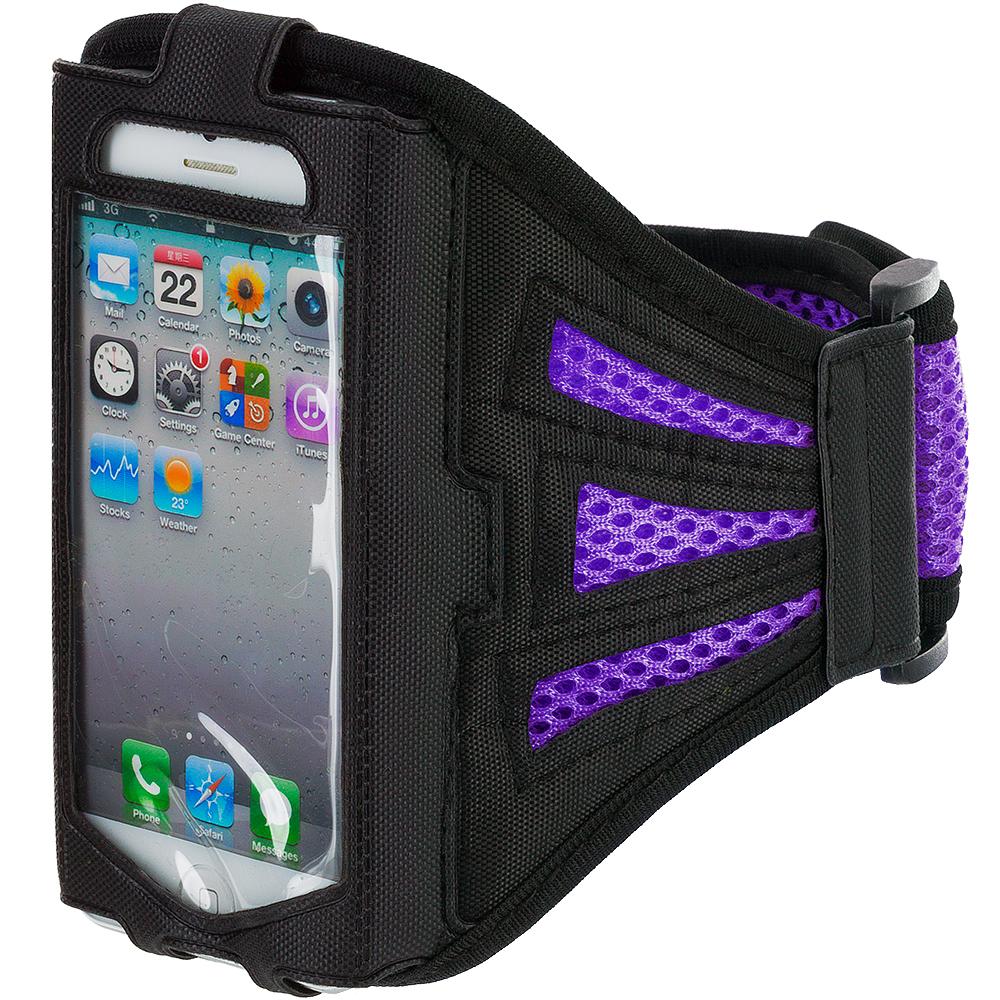 Apple iPhone 4 / 4S Purple Mesh Running Sports Gym Armband