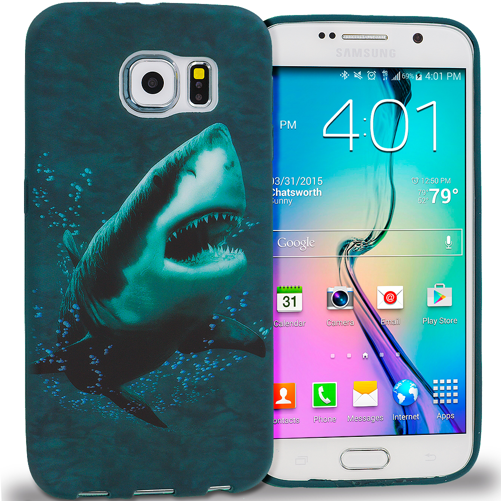 Samsung Galaxy S6 Shark TPU Design Soft Rubber Case Cover