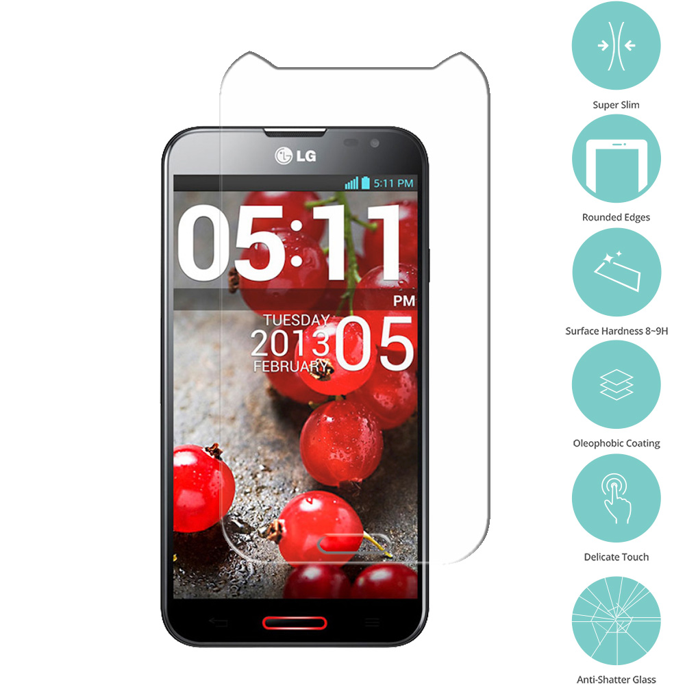 LG Optimus G Pro Clear Tempered Glass Film Screen Protector Clear