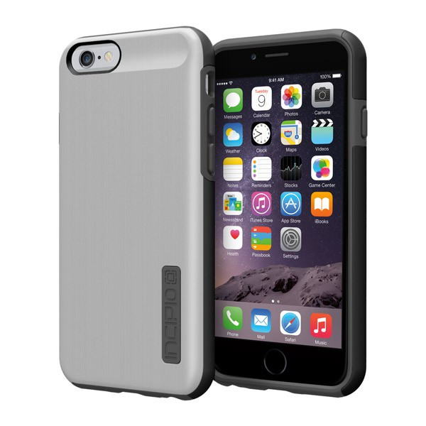 iPhone 6/6S - Silver/Gray Incipio DualPro Shine Case Cover